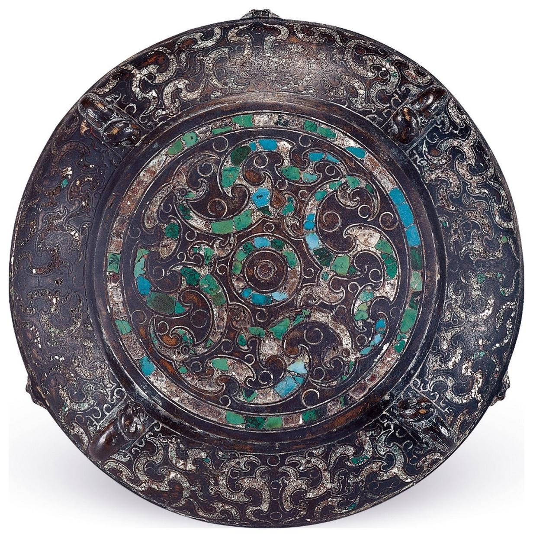 Dou en bronze, couvercle, tombe du marquis Yi de Zeng, Zhou orientaux, Royaumes combattants