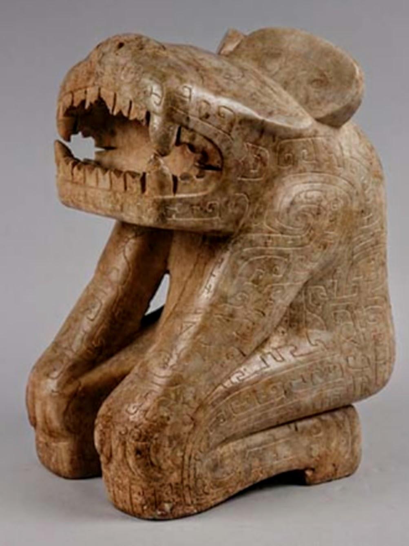 Humain à tête de tigre ou d'ours, tombe de Xibeigang n ° 1001
