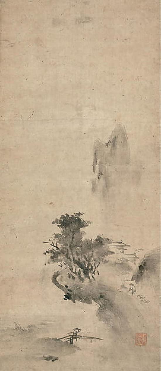 Paysage d'encre éclaboussée, début du 16e siècle, Bokushō Shūshō