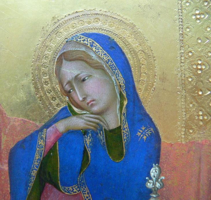 La Vierge de l'Annonciation, détail,1335, Simone Martini