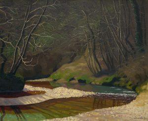 Ruisseau rouille et galets blancs, 1921, huile sur toile, Félix Vallotton