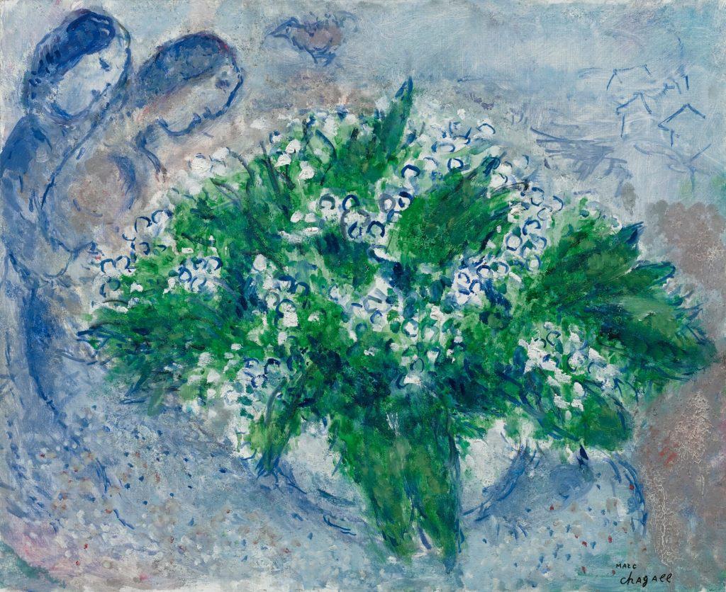 Le muguet, huile sur isorel, 1975, Marc Chagall (1887 - 1985)
