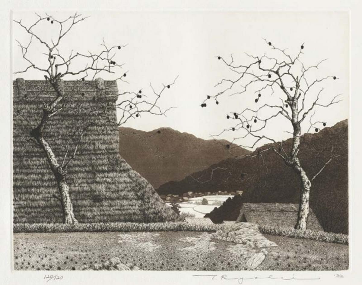 Automne, 1982, eau-forte et aquatinte, Tanaka Ryohei