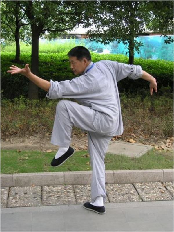 Gao Tieniao, un des élèves de Pei pratiquant le baguazhang
