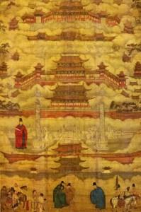Peinture de l'époque Ming représentant la Cité pourpre interdite