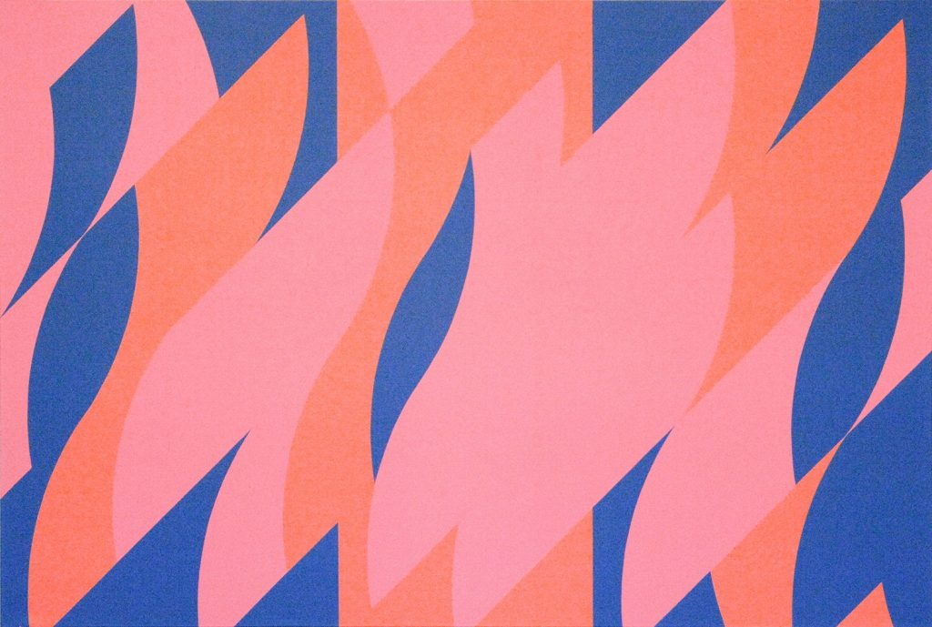 Rouge avec rouge 1 – Huile sur toile de lin, 2007, Bridget Riley