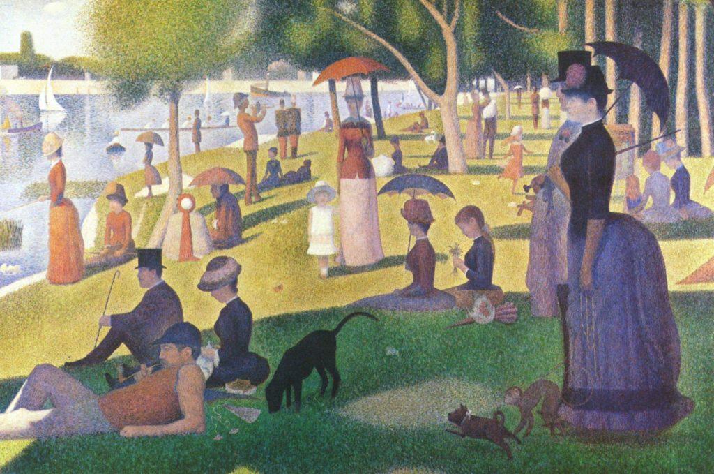Un dimanche après-midi à l'Île de la Grande Jatte, Georges-Pierre Seurat.