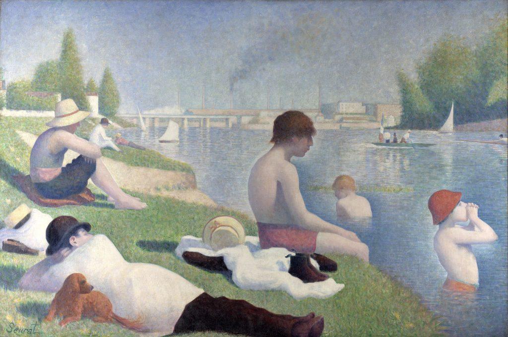 Une baignade à Asnières, Georges-Pierre Seurat.