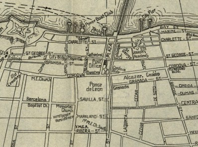 St. Augustine 1914 Map
