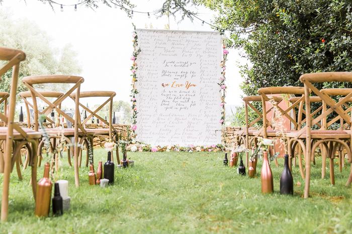 Une cérémonie laïque au Mas de So en Provence par Mc2 Mon Amour