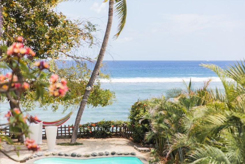 Vue mer au coeur de la ville des sables du lagon à la Réunion