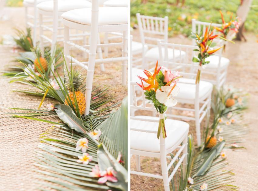 Mariage tropical décoration florale cérémonie laïque