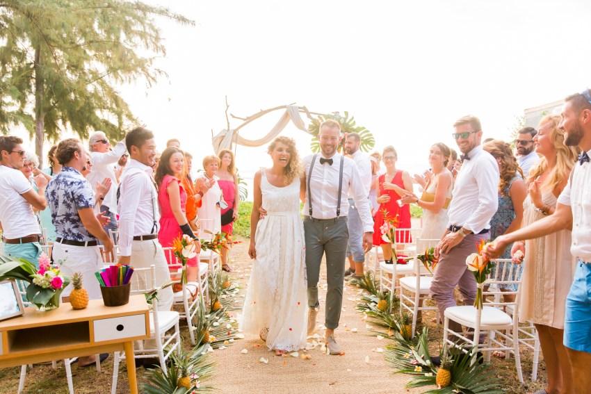 Cérémonie laïque lors d'un mariage tropical sur l'ile de la Réunion