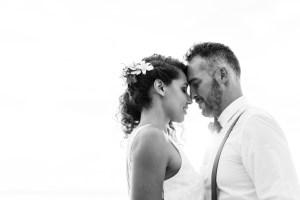 Un mariage sur la plage à Saint Gilles sur l'île de la Réunion