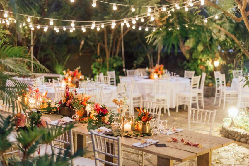 Décoration d'un mariage tropical sur l'ile de la Réunion