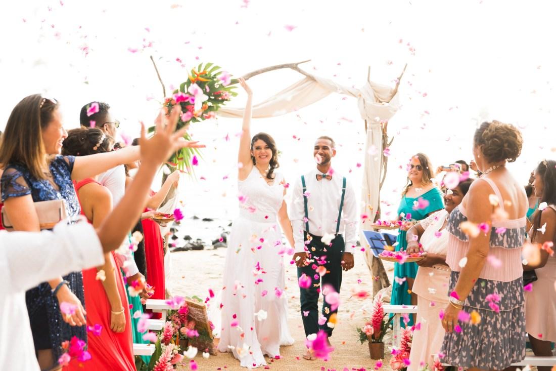 Un mariage sur la plage du Choka Bleu à la Reunion