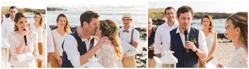 mariage sur la plage de la saline les bains