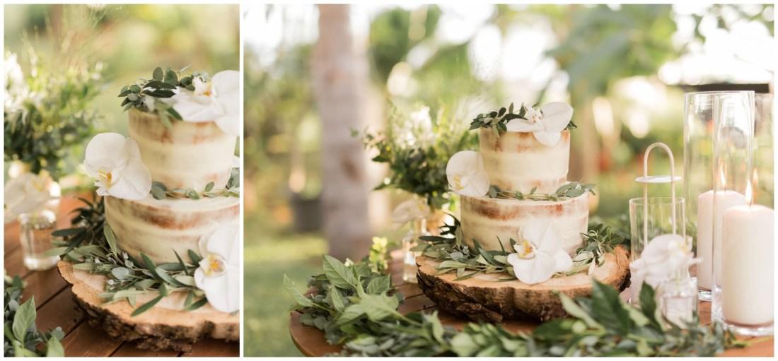 Gâteau de mariage par SweetCake974 au jardin d'ama