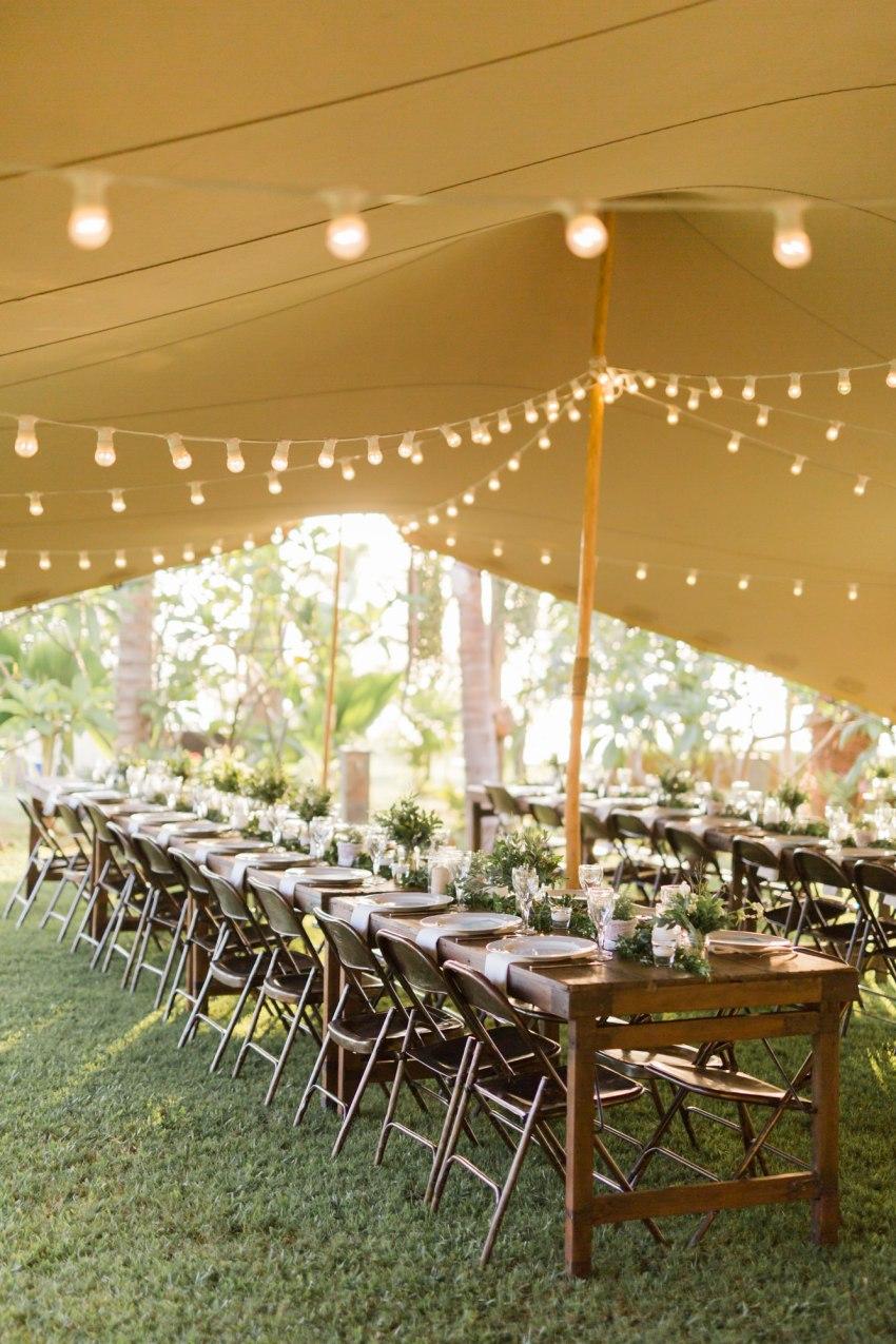 Réception de mariage aux jardins d'ama décorée par DeChouettesMots