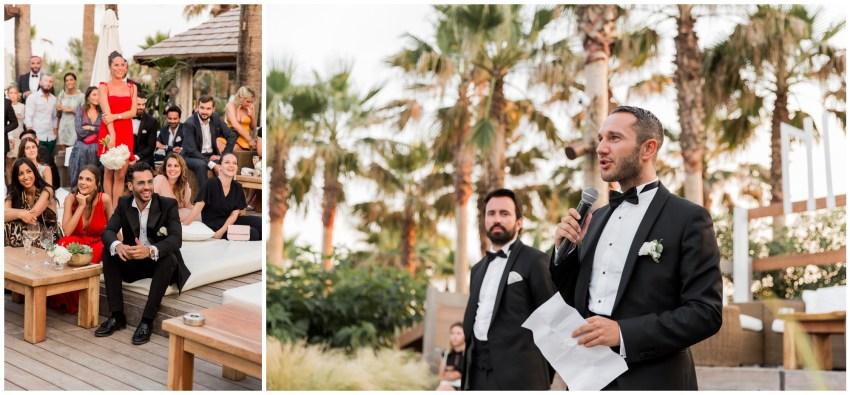 discours de témoin lors d'un cocktail de mariage