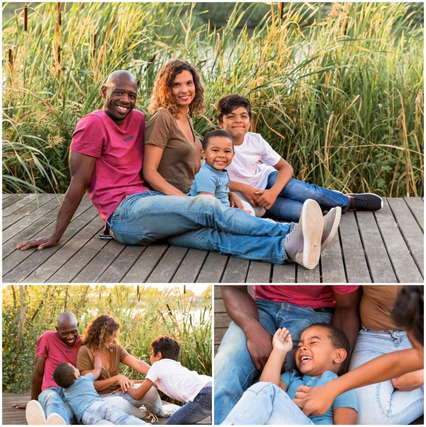 une séance famille joyeuse
