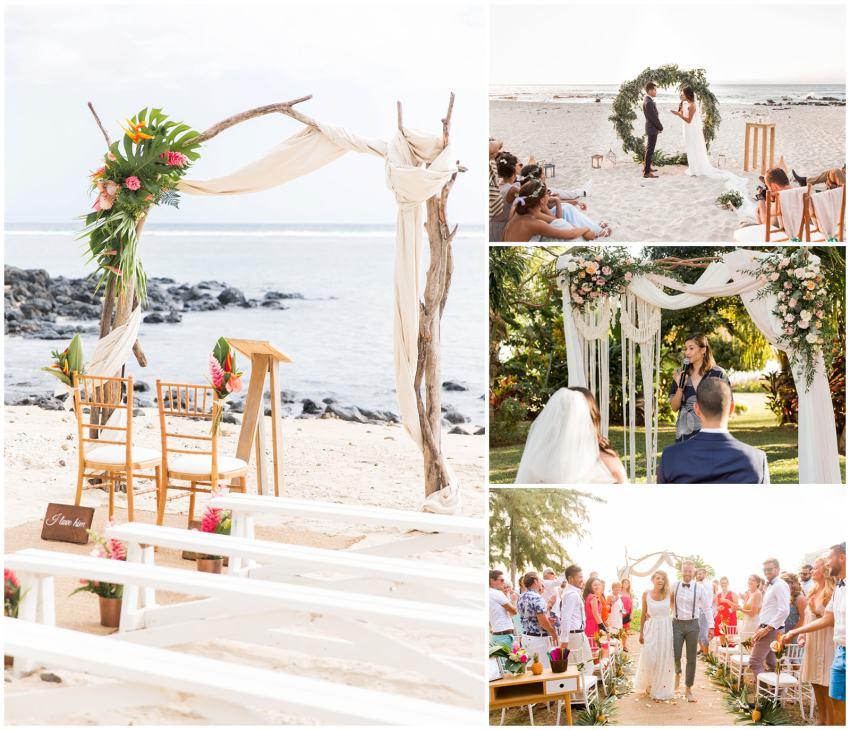 5 raisons de se marier à la Réunion - Cérémonie laïque - Plage - mariage - Fanny Tiara