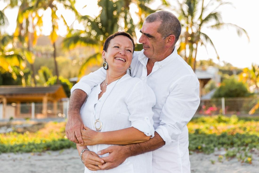 Un couple en vacances à la Réunion lors d'un shooting photo