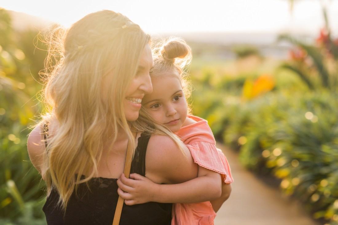 Une maman et sa fille à sainte marie