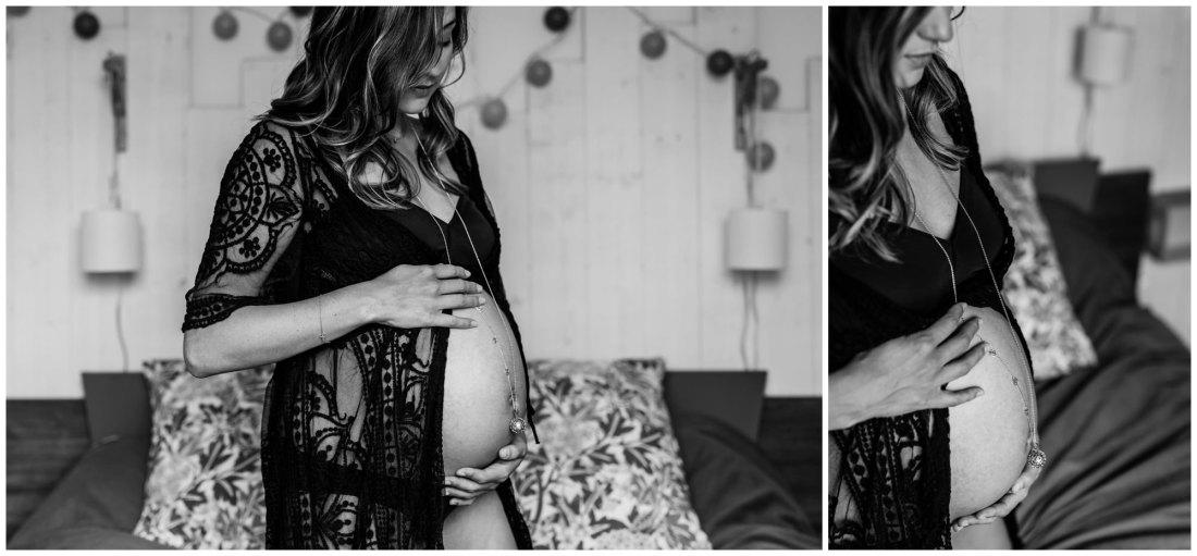 Des photos de grossesse naturelles et intimes à domicile