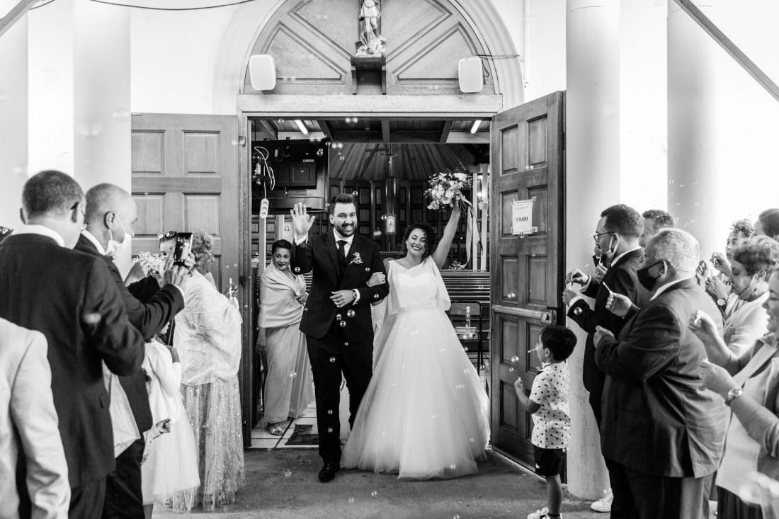 cérémonie de mariage à l'Eglise de Mont vert les hauts
