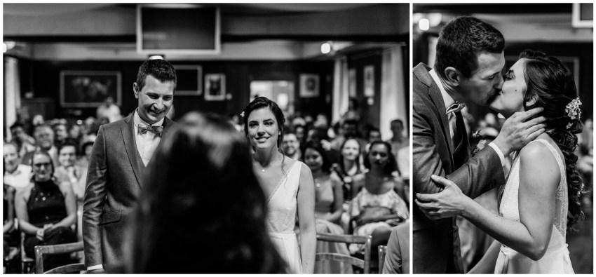 Un couple de marié à la mairie de Saint Paul de la Réunion