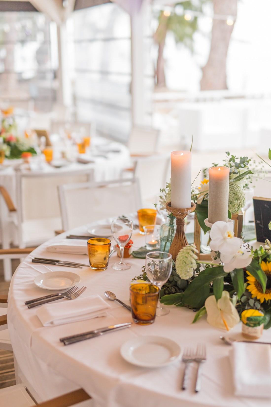 Décoration de mariage écoresponsable sur le thème tropical et japon au Lux de Saint-Gilles de la Réunion