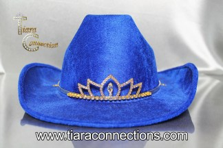 gold rodeo hat tiara
