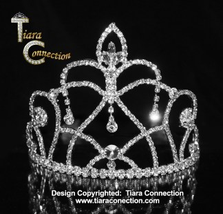 pageant tiara with side combs
