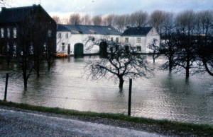 Boschpoort Hoog water boerderij Bergmans 1984