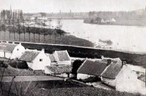 Gezicht op Köbbes v.a. St. Pieter 1865