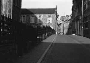 Stokstraat 1975 gezien vanaf Graanmarkt