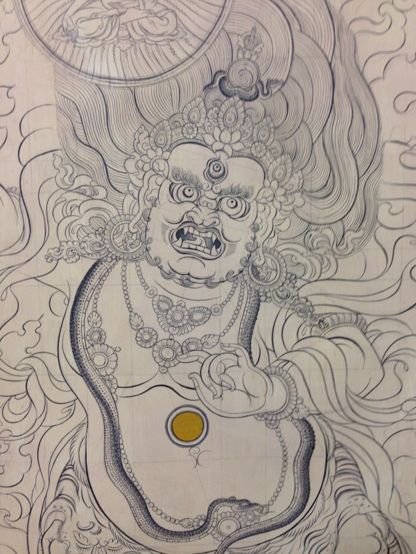 Tibetan Art Drawing