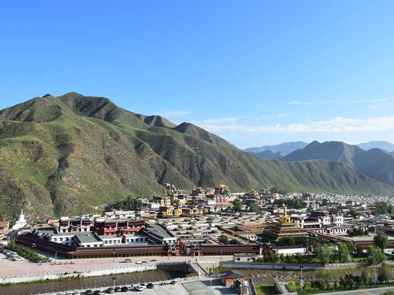 labrang monastery full view