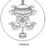 Eight Auspicious Symbols parasol