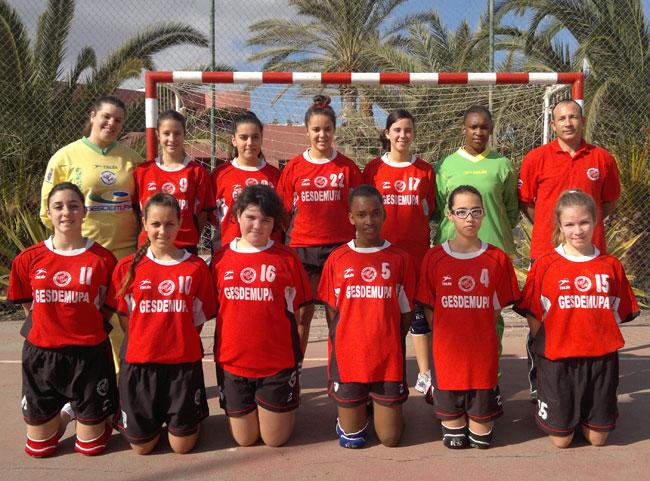 El Bm. La Lajita Costa Calma, infantil femenino, Se alza con su segunda victoria en el Campeonato de Liga