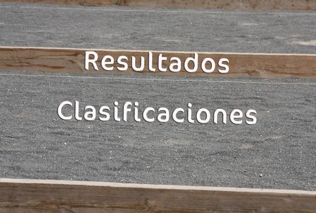Resultados y clasificaciones de bola canaria