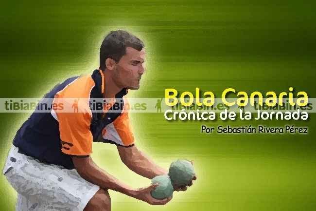 Crónica, resultados y clasificación segunda jornada (Bola Canaria)