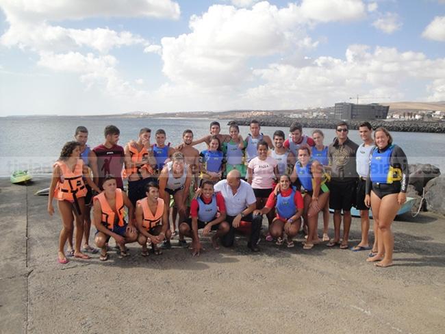 Deportes colabora con la formación de alumnos del IES Gran Tarajal