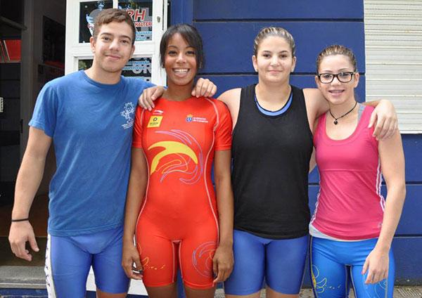 La majorera de 16 años Ilia Hernández, triple campeona de España de halterofilia, se prepara para el europeo y avista las olimpiadas de 2020