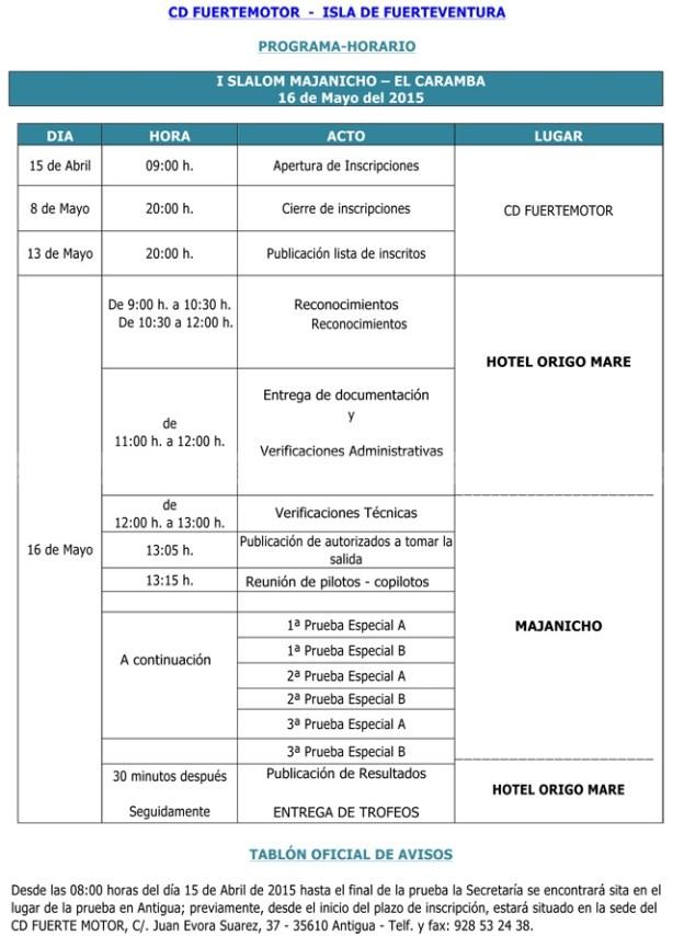 El CD FuerteMotor pone en marcha el I Slalom Majanicho – El Caramba, programado para el 16 de mayo