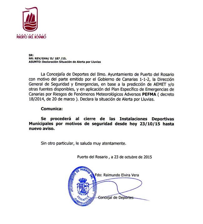 Nota de prensa: Ayto. de Puerto del Rosario
