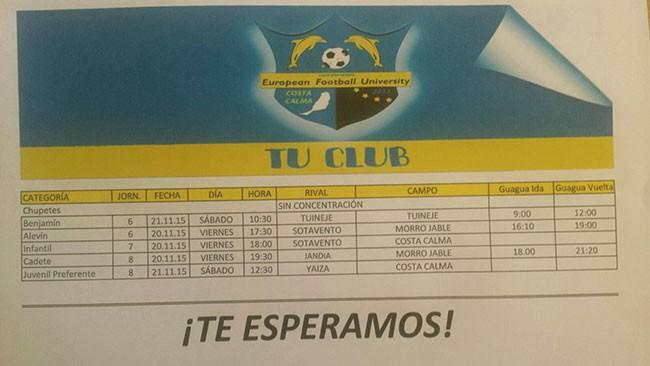 Partidos C.D. European University de Fútbol