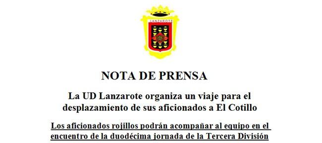 UD Lanzarote, desplazamiento a Fuerteventura