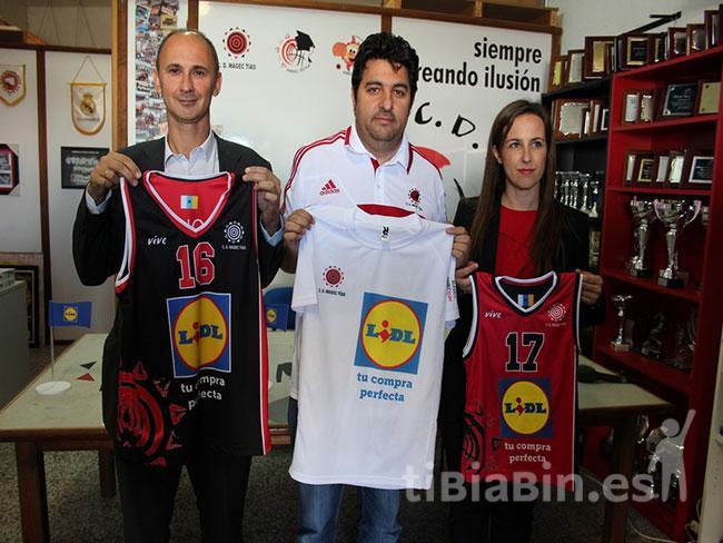 CD Magec Tías y LIDL firman un convenio para fomentar el deporte base saluble